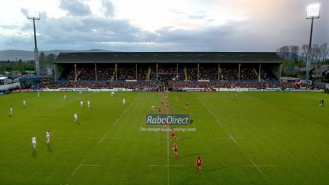 Ulster were playing in front of the famous old stand at Ravenhill for the final time