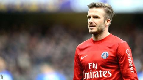 new product a6a94 4d6b6 David Beckham considers longer stay at Paris St-Germain ...