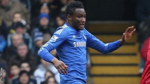 Chelsea's John Mikel Obi