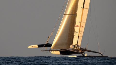 2010: US team Oracle, bankrolled by software billionaire Larry Ellison, challenge holders Alinghi and after extensive courtroom wrangling take to the waters off Valencia with a giant trimaran.