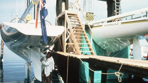 1983: Australia II's infamous winged keel was kept under wraps through the competition, fuelling the intrigue, aura and bickering of the America's Cup.