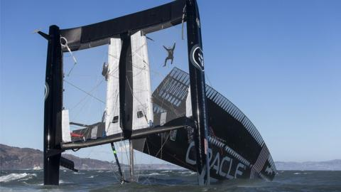 2013: Last October, Oracle capsize their new AC72 in San Francisco Bay and though no-one is hurt it fuels concerns that the boats are too powerful and difficult to control in certain situations.