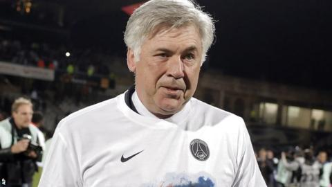 Paris St-Germain boss Carlo Ancelotti
