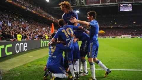 Juan Mata and David Luiz