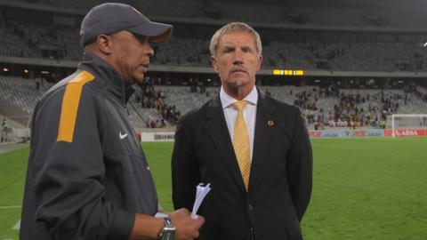 Kaizer Chiefs coach Stewart Baxter (right)
