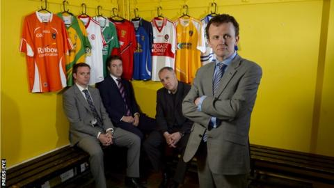 Thomas Kane, Thomas Niblock, Mark Sidebottom and Austin O'Callaghan of BBC Sport NI