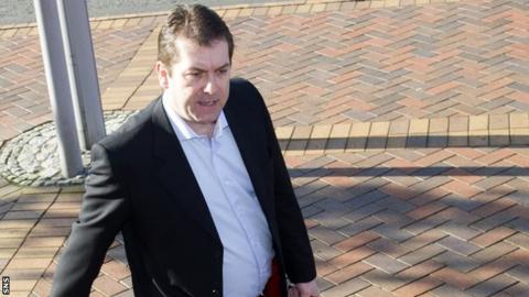 SFL Chief Executive David Longmuir arrives at Hampden