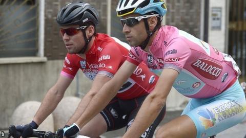 Mark Cavendish and Vicenzo Nibali