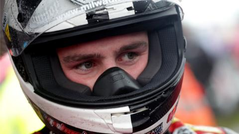 Michael Dunlop waits for the start of racing at the North West 200