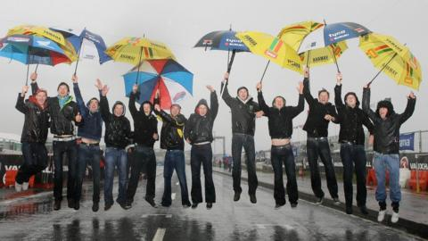 A group of fans from Cavan were determined to enjoy themselves at the North West 200 road races