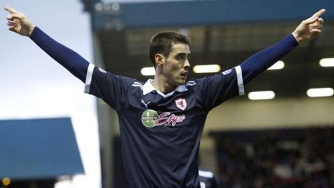 Raith Rovers striker Brian Graham