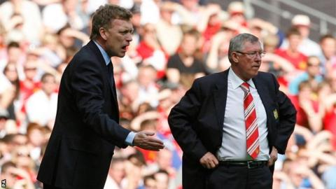 David Moyes (left) is to succeed Sir Alex Ferguson as Manchester United's manager