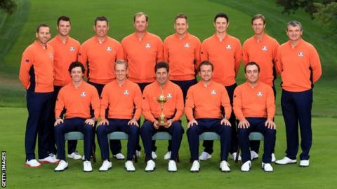 Europe's Ryder Cup winning team