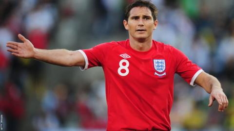 50135e047 This classic-style red shirt with round collar was worn by Frank Lampard in  England s 4-1 defeat by Germany at the 2010 World Cup. Unlike 1966