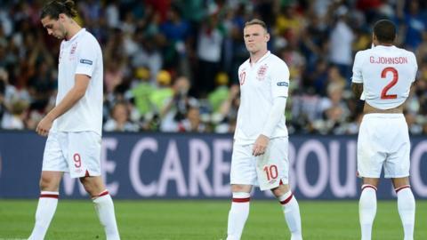 Andy Carroll, Wayne Rooney, Glen Johnson