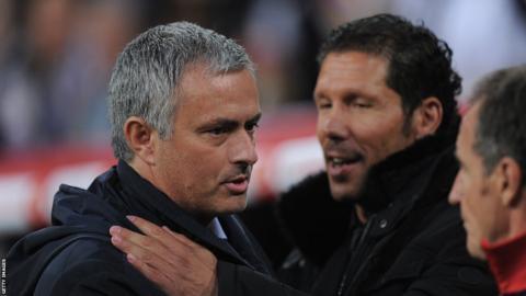 Jose Mourinho and Diego Simeone