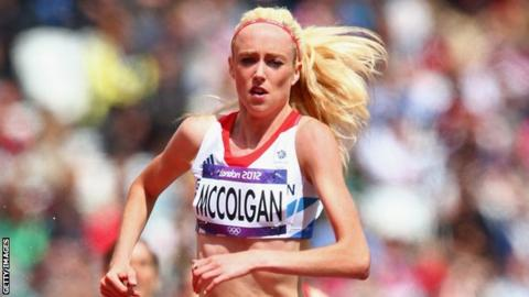 Scottish athlete Eilish McColgan