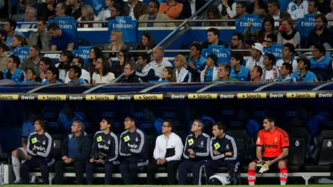 Jose Mourinho and Real Madrid substitutes