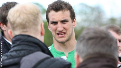 Lions captain Sam Warburton speaks to the media at a training session
