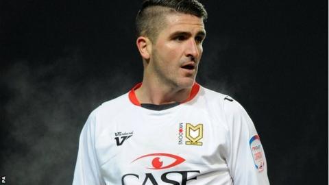 MK Dons striker Ryan Lowe