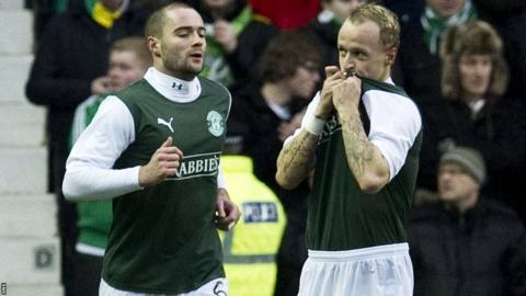 James McPake and Leigh Griffiths