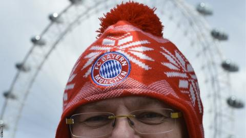 The London Eye Bayern Munich fan