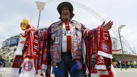 Bayern Munich fan Wembley