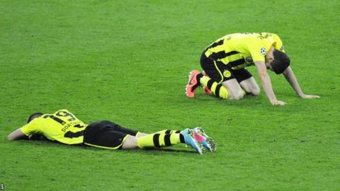 Borussia Dortmund players after the Champions League final