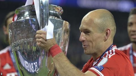 Bayern Munich matchwinner Arjen Robben
