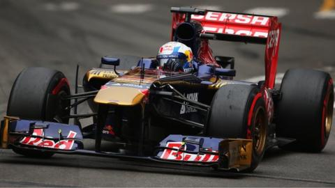 Jean eric-Vergne racing for Toro Rosso