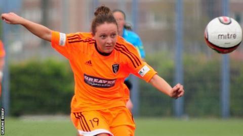 Glasgow City player Sarah Crilly