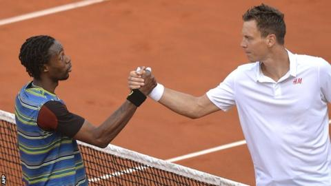 Gael Monfils and Tomas Berdych