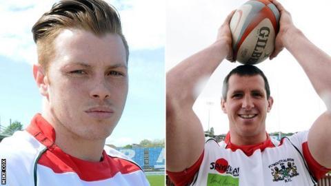Dan Mugford (left) and Gareth Evans
