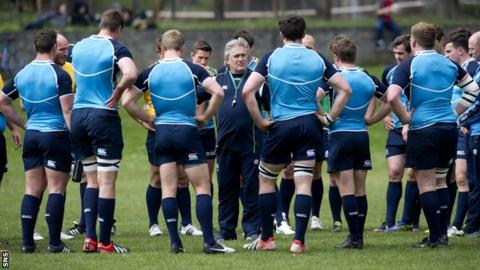 The Scotland squad were training in Grantown on Spey