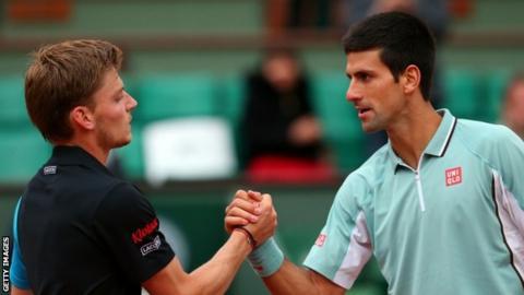 Novak Djokovic and David Goffin