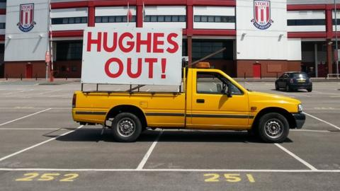 Hughes out banner