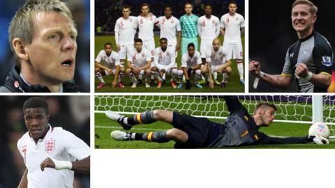 Stuart Pearce, England U21 squad, Lewis Holtby, David de Gea and Wilfried Zaha