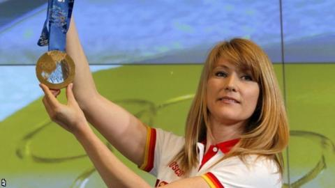 Former Olympic speed skating champion Svetlana Zhurova