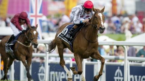 Talent (right) wins the Oaks at Epsom