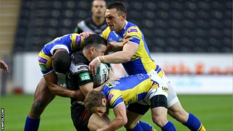 Hull's Shannon McDonnell is tackled