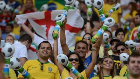 Fans inside the Maracana