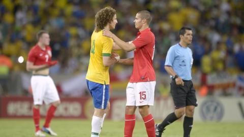 David Luiz and Jack Rodwell embrace