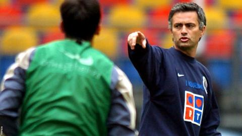 Jose Mourinho coaching at Porto