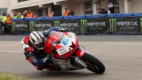 Michael Dunlop on his Honda Supersport bike