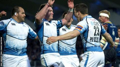 Glasgow will meet Toulon, Cardiff and Exeter