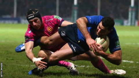 Exeter also faced the reigning champions last year when they took on Leinster