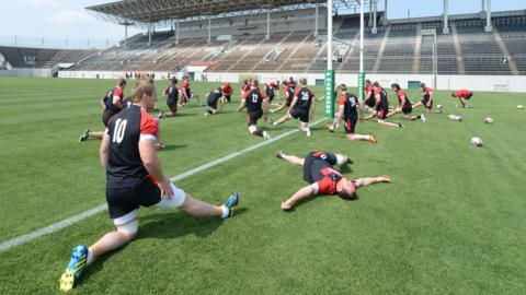 Wales prepare for Saturday's Test against Japan in Osaka