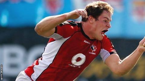 New Ospreys signing Tyler Ardron in action for Canada