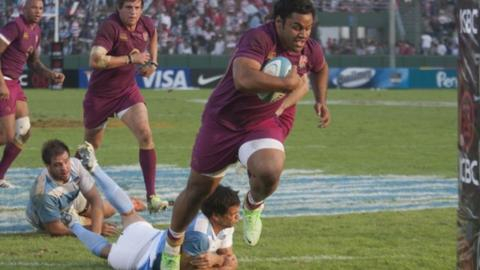 England score four tries in Argentina
