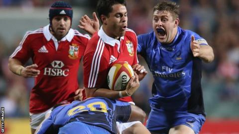 Sean Maitland in action for the Lions against Western Force